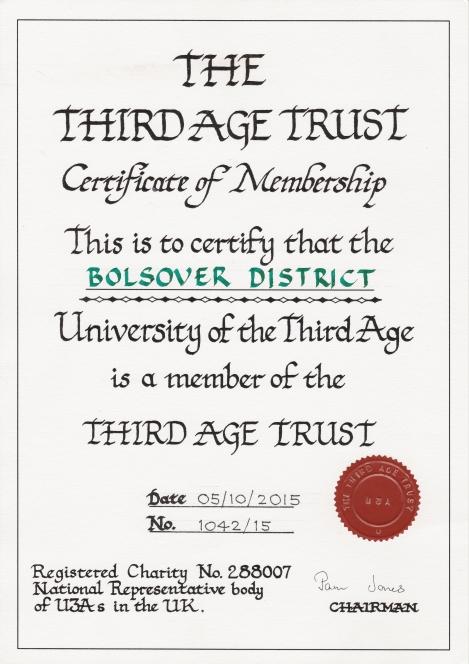 BDU3A Certificate